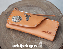 Leather carving Long Wallet (Designer Aleron Yang)