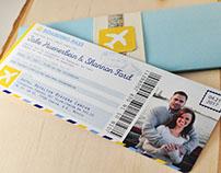Destination Flight Ticket Invitations