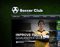 Soccer Club We Love This Game HTML5 Template 300111503