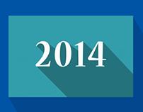 Colorful 2014 Calendar