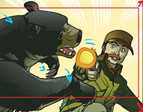 "Comic in motion ""Waking Bear"" for Weldon Owen"