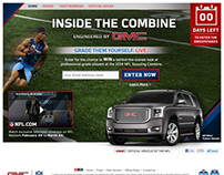NFL GMC Sweepstakes Website Design and Web Banners