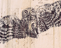'take all you want' bic biro drawing on 1828 letter...
