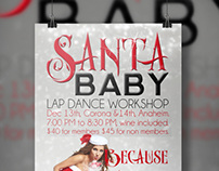 Santa Baby Lap Dance Workshop Poster