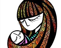 Ilustración Madre e hijo