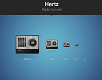 Hertz | Radio Icon Set
