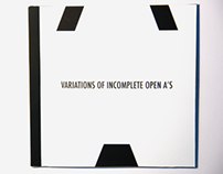 Variatons of incomplete open A's