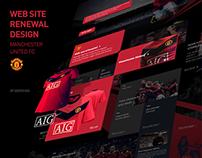 Manchester utd website redesign