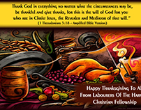 Poster:  Happy Thanksgiving To All
