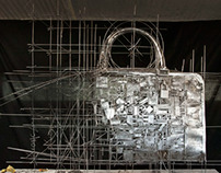 Loewe handbag / Steel sculpture