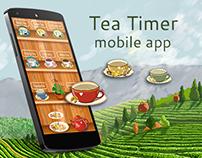 Tea Timer mobile app design