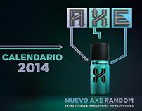 NUEVO AXE RANDOM - Calendario Axe 2014