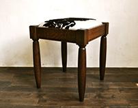 fabric stool A-2