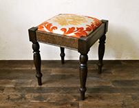 fabric stool B-1