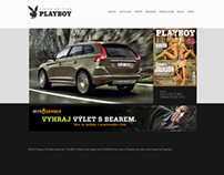 PLAYBOY Czech Edition WebDesign