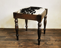 fabric stool B-2