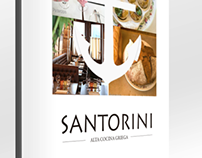 Brand Identity and Menu for Restaurant SANTORINI