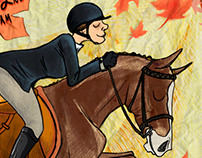 SCAD Equestrian Horse Show Poster