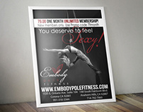 Embody Studios New Pricing Posters