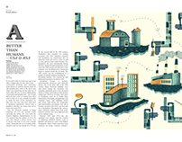 Editorial Illustrations: Monocle Magazine