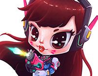 Chibi D.VA - Overwatch