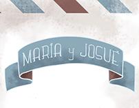 MARÍA Y JOSUÉ WEDDING CARD