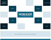 Noblesse Single Page Website Concept