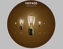 Vintage Bulb Icon Set