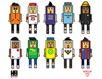 H9 WOOD TOY - CHARACTER GRAPHIC -CULTURE-