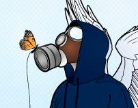Gasmask Angels - Conceptual Vector Art - ongoing