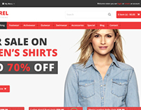 The Apparel Online E-Commerce Opencart Template