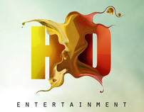 HD ENTERTAINMENT - logo design and promo poster