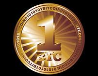 digital money bitcoin vector art