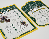 Papabon Brochure and Menu
