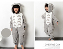 kids Totoro animal onesies
