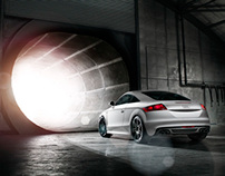 Audi TT in blast furnace, shot by Chris Myhill