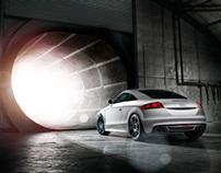 Audi TT in blast furnace, shot by Chris Myhill