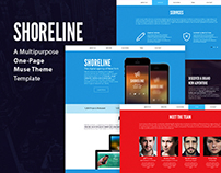 Shoreline - One Page Muse Theme