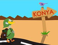 KONYA şehri arayüz tasarımı