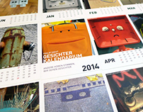 Philip sees faces postcard calendar 2014