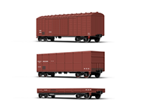 Types of containers/wagons.