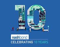 Nash Bond 10th Anniversary identity