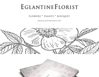 Eglantine Florist business card