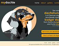Blog/Web Design for the Pet Dachshund: mydachie