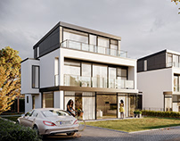 Modern villa estate visualizations - Germany
