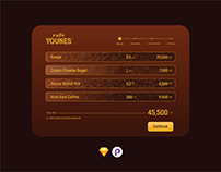 Daily Ui 002- Check Out for Cafe Younes Online