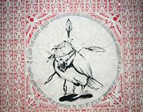 PRESA Y CAZADOR / Stencil & Calligraphy