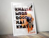 Khalsa Mero Roop Hai Khas (Poster Design)