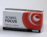 ACAMOL FOCUS - package design