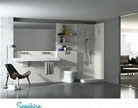 Woody. Sistema modular para formar baños.